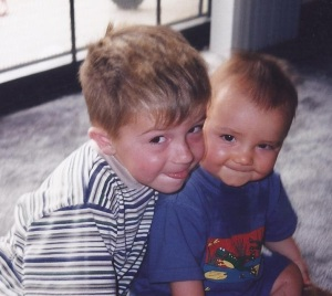 Matt and Justin age 1 and 4