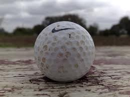 golf ball wet